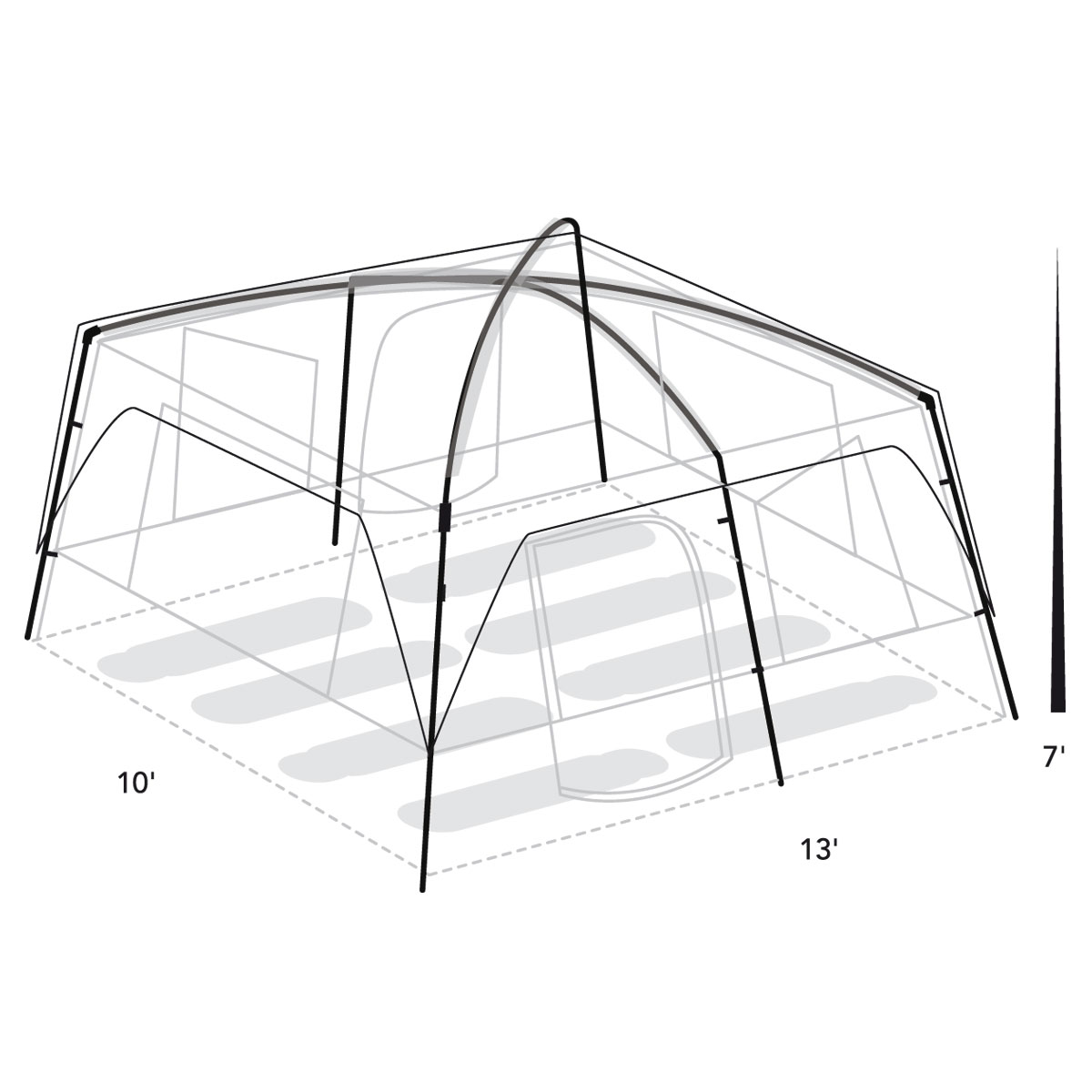 Copper Canyon 8 Spec Diagram ...  sc 1 st  Tents - Johnson Outdoors & Copper Canyon 8 Person Tent | Eureka!